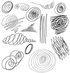 Set of hand-drawn scribbles vector