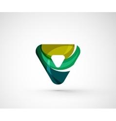 Abstract geometric company logo triangle arrow vector image vector image