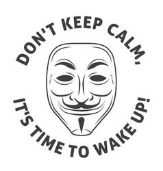Anonymous mask logo hacker icon design vector