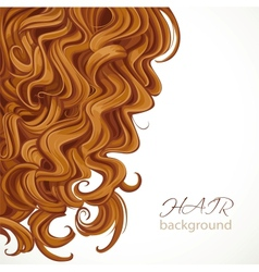 Background with curly brown hair vector