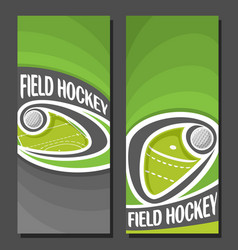 Banners for field hockey vector