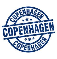 Copenhagen blue round grunge stamp vector