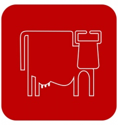 cow sign symbol vector image