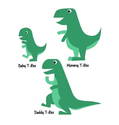 Cute Tyrannosaurus Family vector image