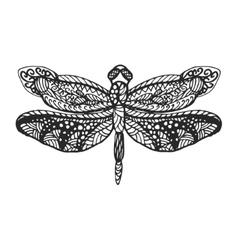 Dragonfly stencil pattern vector