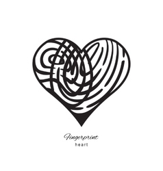 Fingerprint abstract heart vector