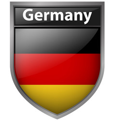 Flag of germany on badge vector