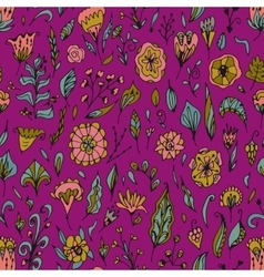 floral seamless pattern with abstract vector image