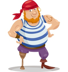 funny pirate cartoon vector image vector image