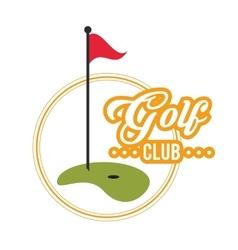 Golf sport club design vector