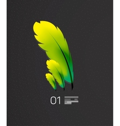Green feather nature and birds concept vector image