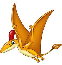 Happy baby dragon cartoon vector