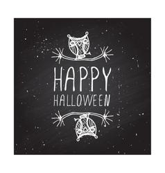 Happy halloween on chalkboard background vector