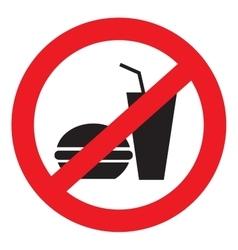 Icon ban food vector image vector image