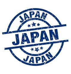 Japan blue round grunge stamp vector