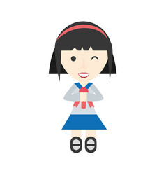 Japanese girl student uniform vector