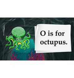 O is for octopus vector