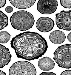 Pattern of wood ring vector