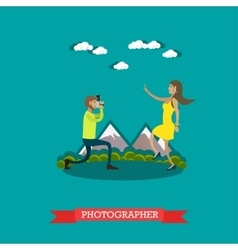 photographer in flat style vector image