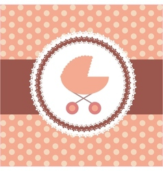 pink baby carriage for newborn girl vector image vector image