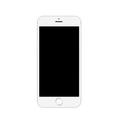 realistic white smartphone isolated on white vector image