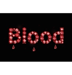 Ruby word blood vector