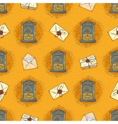 Seamless Pattern with Envelopes Letters vector image vector image