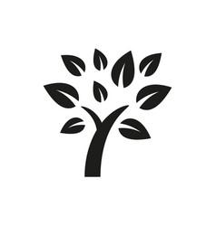simple minimal black tree icon symbol style design vector image
