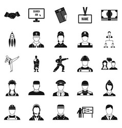 Successful man icons set simple style vector