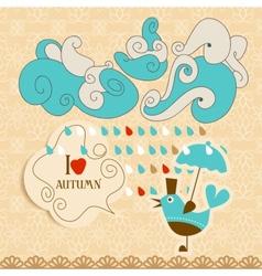 Love autumn cute vector image