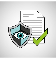 Eye shield document security vector