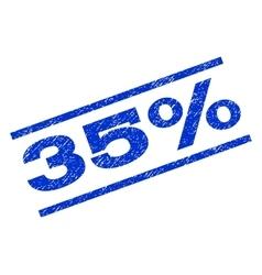 35 percent watermark stamp vector