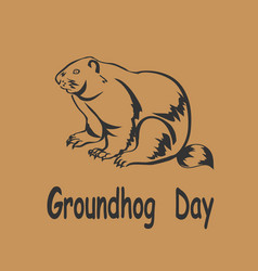 Marmot icon groundhog day vector