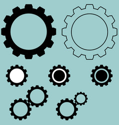 Black different simple gear vector
