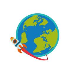 Spaceship rocket symbol vector