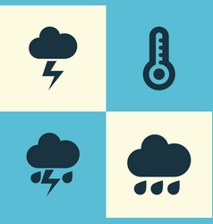 Meteorology icons set collection of flash vector