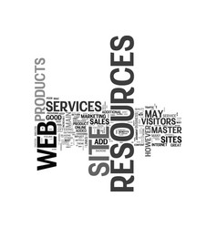 Why resources added to a web site increase vector