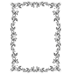 Frame leaves vector