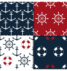 Nautical seamless set vector