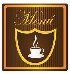 Menu coffee vector
