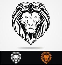 Tribal Lions Head vector image