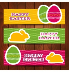 Set of easter headers or banners vector