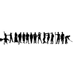 Silhouettes of people of different professions vector