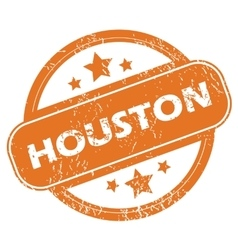 Houston round stamp vector