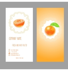 Business card with orange vector