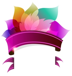 Transparent petals with ribbon vector