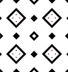 Seamless geometric pattern in black and red vector