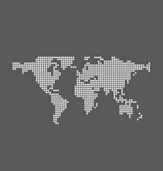 Abstract computer graphic World map vector image