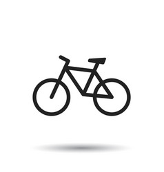 Bike icon on white background bicycle in flat vector
