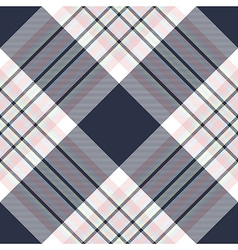 Check diagonal fabric texture seamless pattern vector image vector image